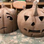 Clay pumpkins